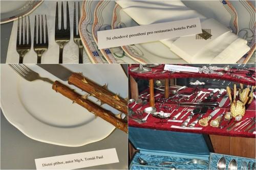Sbírka příborů v Muzeu gastronomie